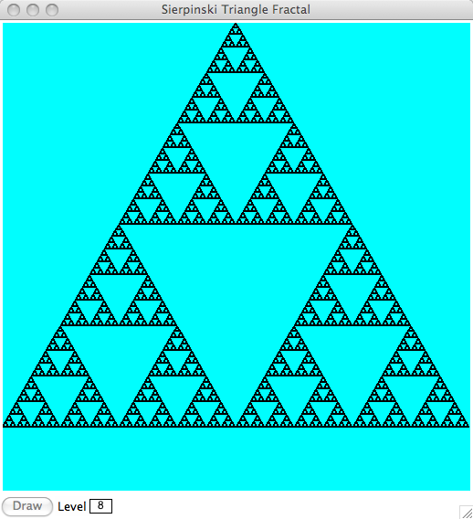 The Level 1 Triangle Becomes Our Base Case And In Recursive We Locate Midpoints Of Draw Three New Triangles Lower